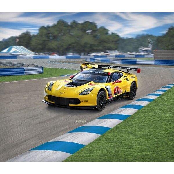Corvette C7.R Un facile costruire kit di modello di costruzione di questo successo auto da corsa GT, che tra gli altri ha vinto