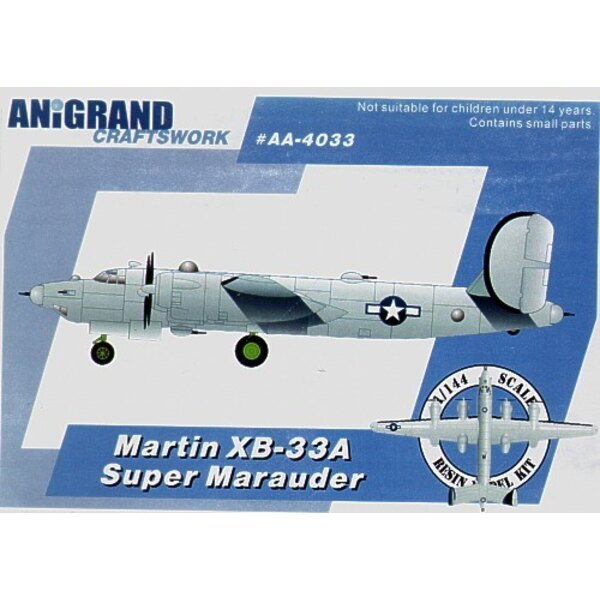 Martin XB-33A Super Marauder. Also includes BONUS Kits of the Lockheed PV-1 Ventura Douglas A-20B Havoc and Curtiss XP-71. In 19