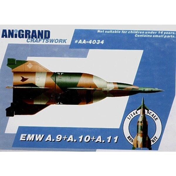 EMW A-9/A-10/A-11 Luftwaffe ballistic missile. Also includes BONUS kits of the Fieseler Fi 166 Blohm und Voss MGRP Skoda-Kauba P