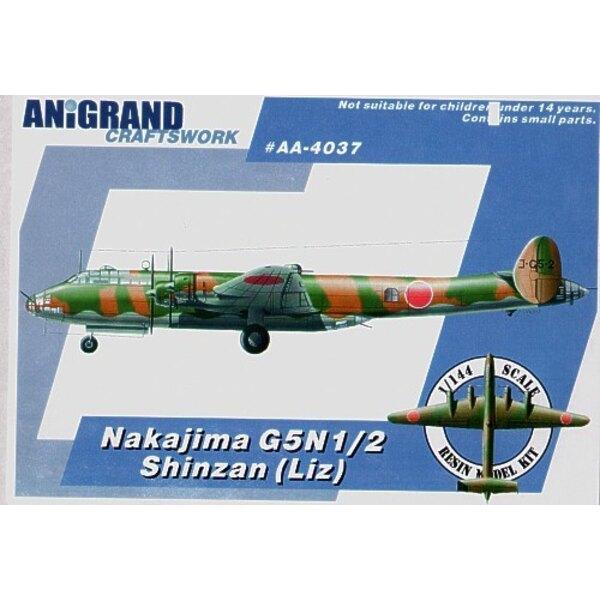 Nakajima G5N2 Shinzan. Also includes BONUS kits of the Aichi E16A1 Zuiun Yokosuka R2Y1 Keiun and Kawasaki Ki-78. In 1938 with su