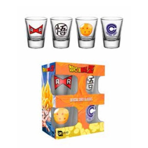 Dragonball Z Shotglass 4-Pack Mix