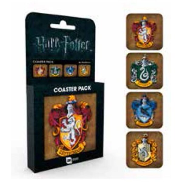 Harry Potter Coaster 4-pack Crests