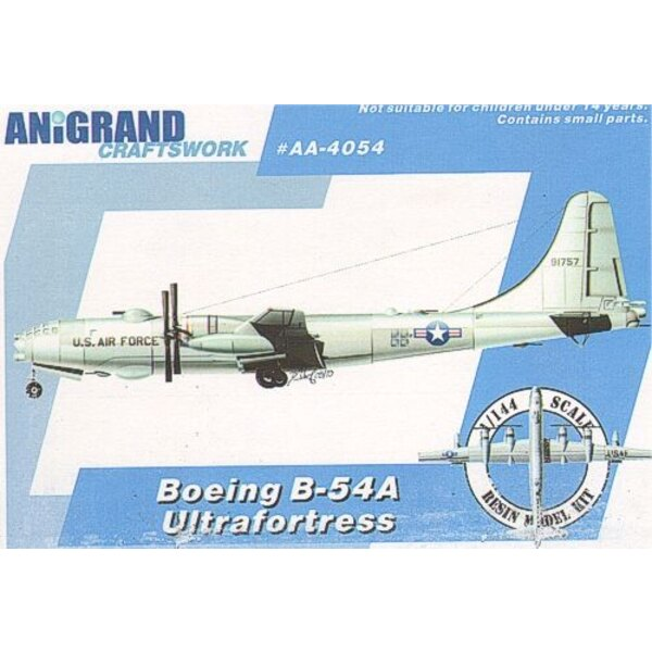 Boeing B-54A Ultrafortress. Includes BONUS kits of the Northrop YF-17 Cobra Douglas XF6D Missileer & McDonnell XHJD Whirlaway. F