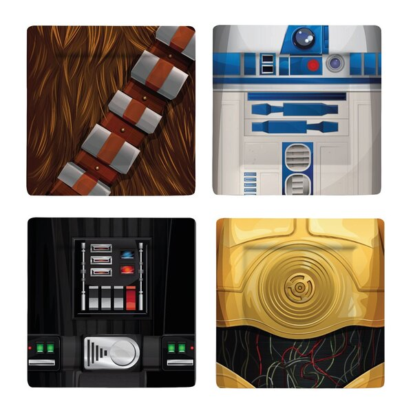 Star Wars Plates 4-Pack Characters