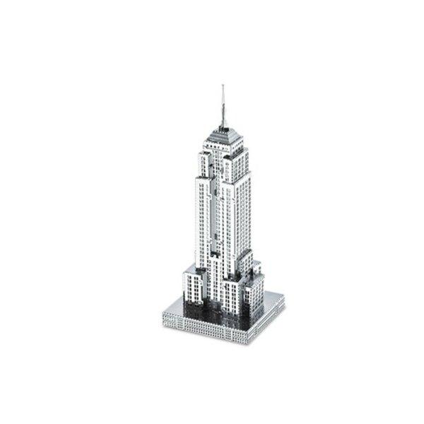Architettura di MetalEarth: BUILDING DI STATO EMPIRE 9.91x2.97x3.17cm, modello in metallo 3D con 1 foglio, su carta 12x17cm, 14+
