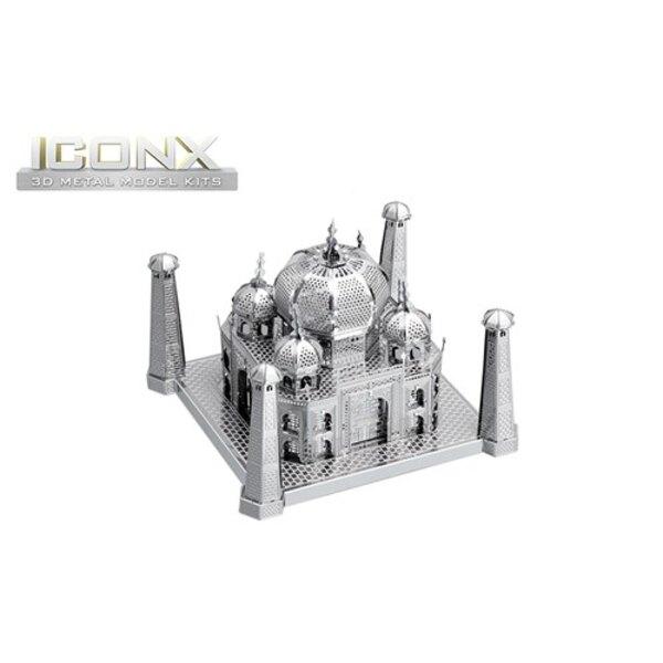 MetalEarth: ICONX - TAJ MAHAL 6,35x8,89x8,89cm, modello in metallo 3D con 2 fogli, in scatola 13,5x22x2cm, 14+
