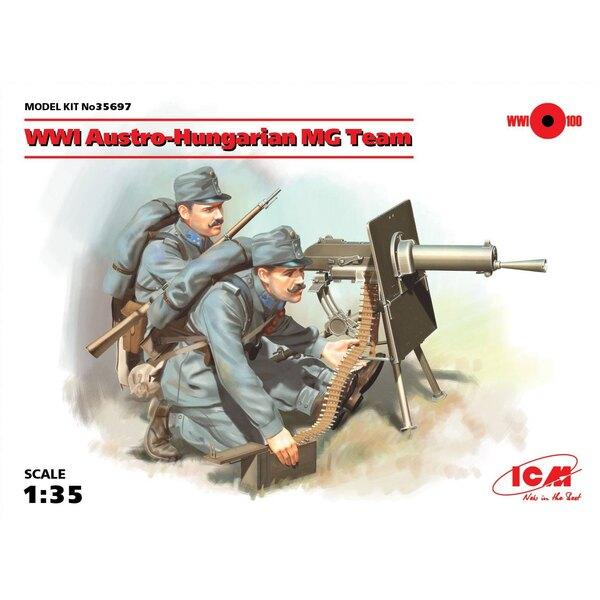 MG Team austro-ungherese WWI (2 figure) (100% nuovi stampi) Il set comprende due figure di mitragliatrici austro-ungheresi del p