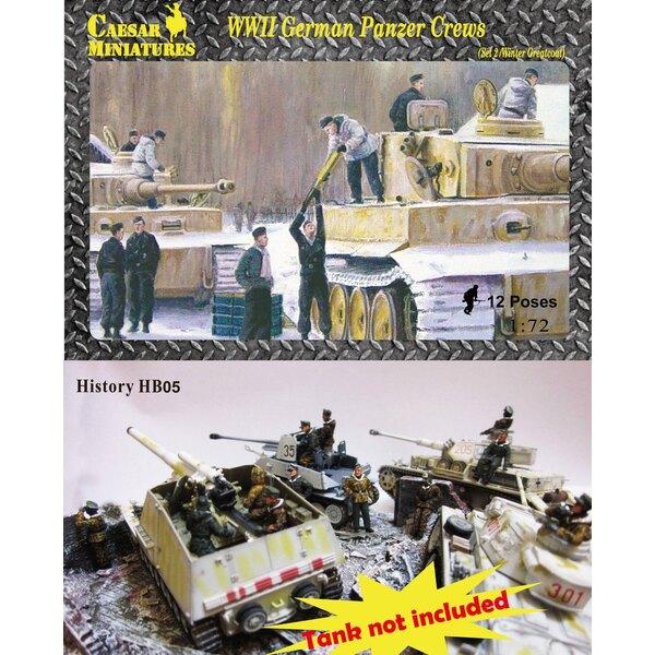 WWII Panzer Crews tedeschi (set 2) (anche se questo è un vecchio numero di parti questo è un set nuovissimo che non è mai stato