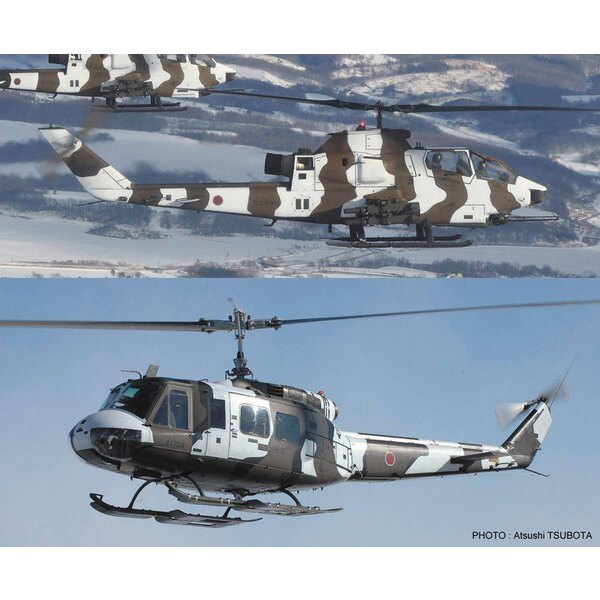 Bell AH-1S Cobra Chopper & Campana UH-1H Iroquois INVERNO CAMOUFLAGE (Due kit nella scatola)