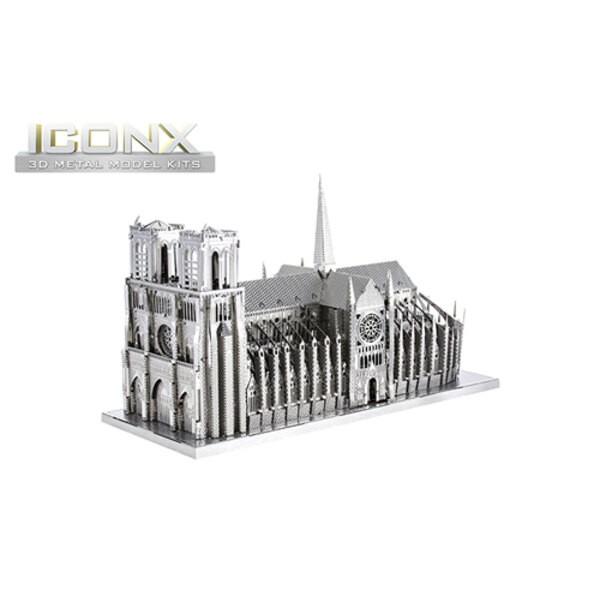 MetalEarth: ICONX - NOSTRO LADY 8x11,7x5cm, modello in metallo 3D con 2 fogli, scatola 13,5x22x2cm, 14+