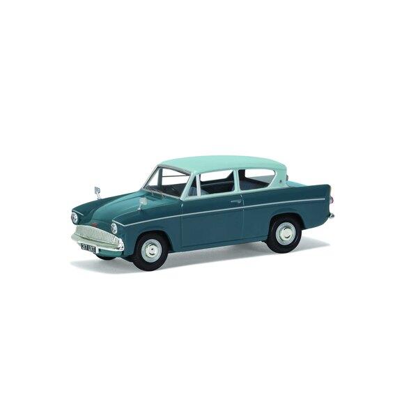 Ford Anglia 105E De Luxe, Pompadour Blue e Shark Blue