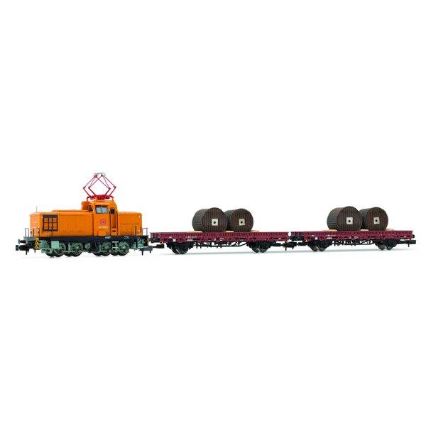 Set di treni DB AG, classe V 60D e 2 carri pianali DCC
