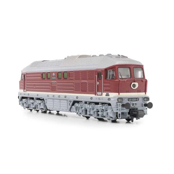 Locomotiva diesel di classe 131 della DR, rossa, Ep.IV