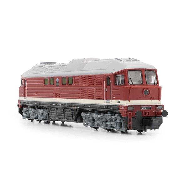 Locomotiva diesel classe 130 della DR, rossa, Ep.IV