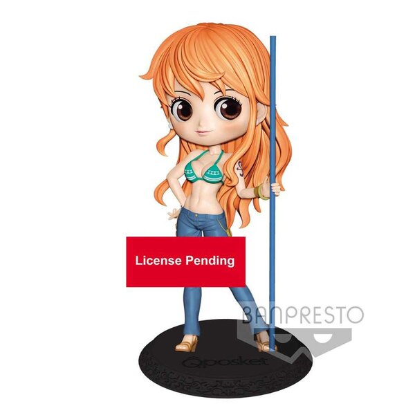 One Piece Q Posket Mini Figure Nami Special Color Ver. A 14 cm