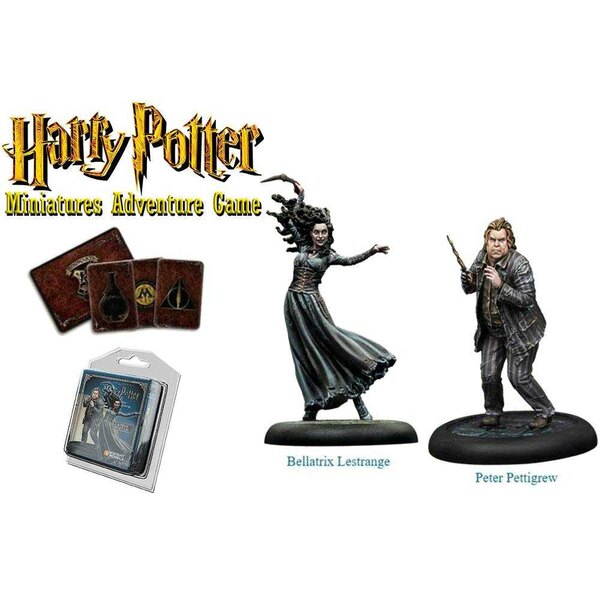 Harry Potter Miniatures 35 mm 2-pack Bellatrix & Wormtail *English Version*