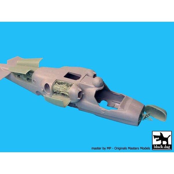 """Motore ed elettronica Kamov Ka-52 """"Alligator"""" (progettato per essere utilizzato con i kit Zvezda)"""
