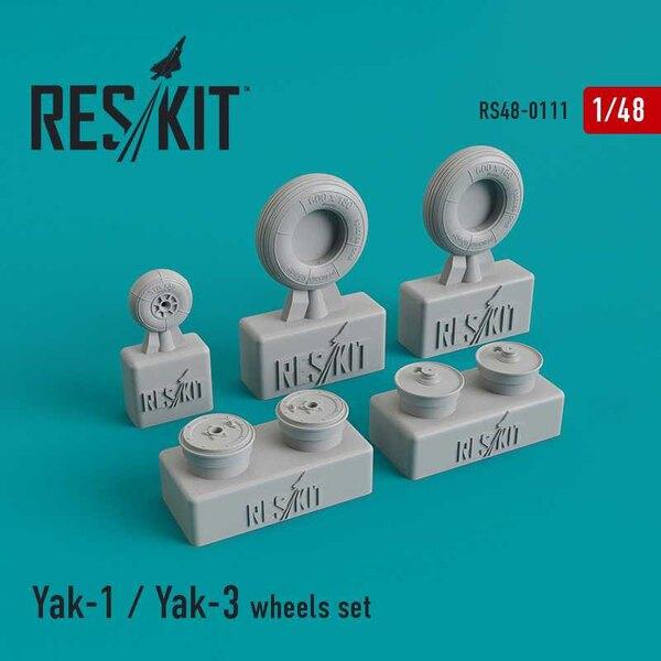 Set di ruote Yakovlev Yak-1 / Yak-3 (progettato per essere utilizzato con i kit Accurate Miniatures, Eduard, ICM, Modelsvit e Zv