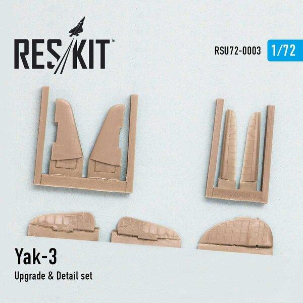 Set di aggiornamento e dettagli Yakovlev Yak-3 (progettato per essere utilizzato con i kit Zvezda)