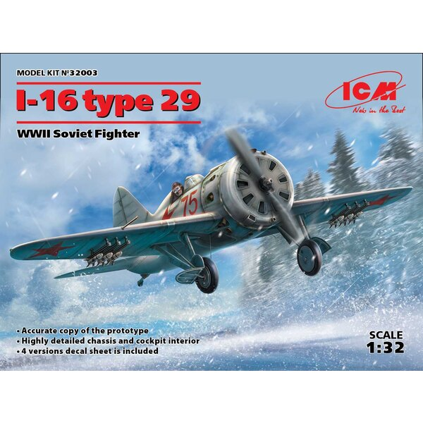 Polikarpov I-16 type 29 WWII Soviet Fighter