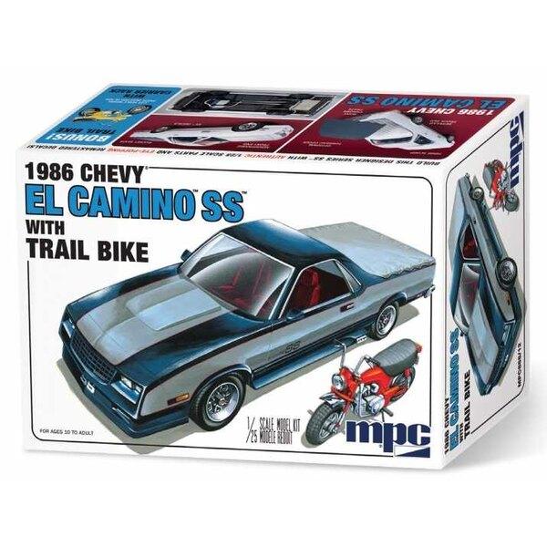 1986 Chevy El Camino SS w / Dirt Bike Per la prima volta in assoluto, il kit presenta l'iconica grafica bicolore del corpo di Ch