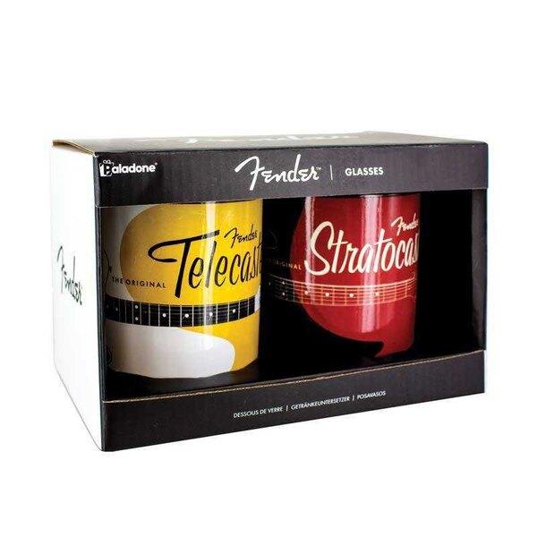 Fender Drinking Glasses 2-Pack Stratocaster & Telecaster Logo