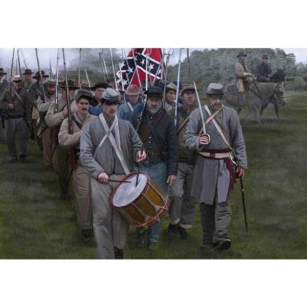 Confederati sul marzo Gettysburg (ACW epoca / Guerra di secessione americana)