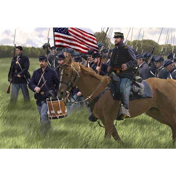 US Union fanteria in marcia (ACW epoca / Guerra di secessione americana)