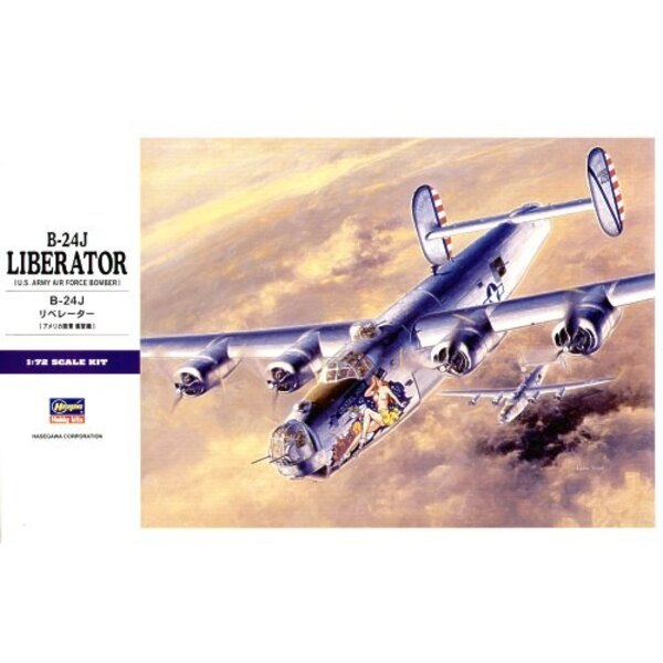 Consolidated B-24J Liberator. Alternative 8th Air Force decals on Xtradecal X02572 (Queen of Hearts & Alfred II) and X72082 (Ken