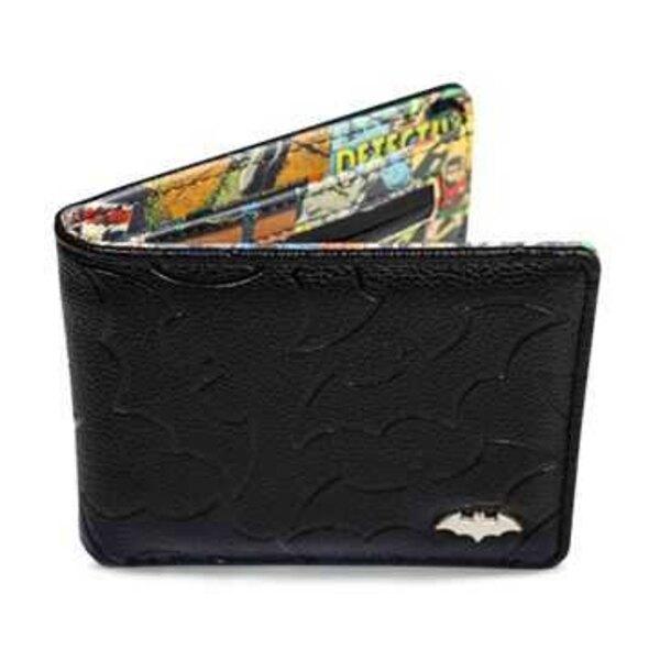Portafoglio DC Comics con scatola di metallo Batman vintage