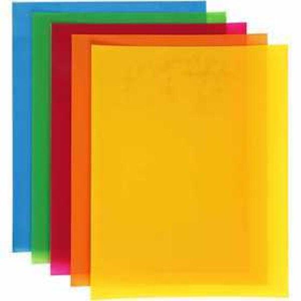 Fogli di plastica restringente, foglio 20x30 cm, colori forti, 100fgl.