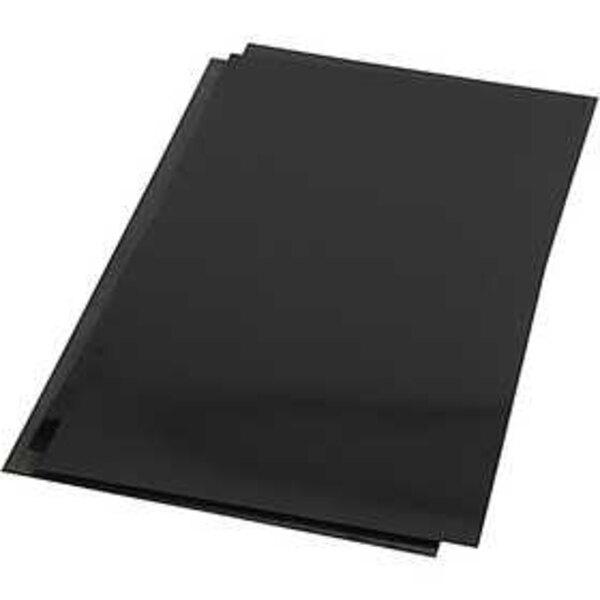 Fogli di plastica restringente, foglio 20x30 cm, Nero opaco, 100fgl.