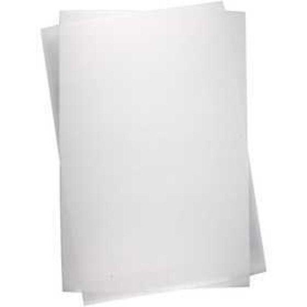 Fogli di plastica restringente, foglio 20x30 cm, trasparente opaco, 100fgl.