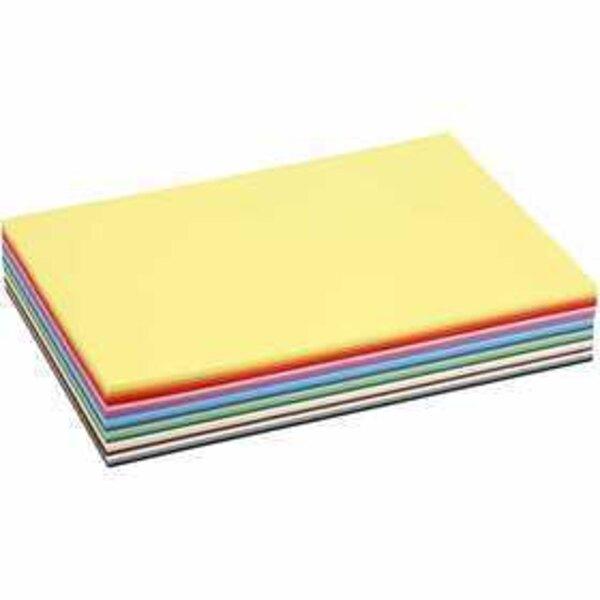 Cartoncino colorato, A4 210x297 mm, 180 g, colori asst., 30fgl. asst.