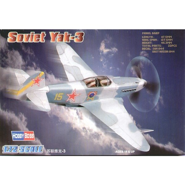 Soviet Yakovlev Yak-3 Easy Build with 1 piece wings and lower fuselage 1 piece fuselage. Other parts as normal. Optional open/cl