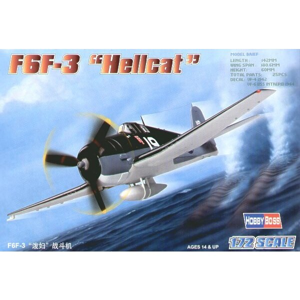 Grumman F6F-3 Hellcat Easy Build with 1 piece wings and lower fuselage 1 piece fuselage. Other parts as normal. Optional open/cl
