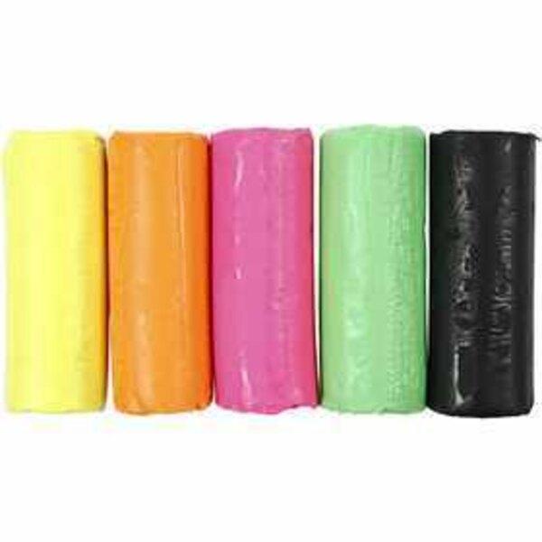 Soft Clay, H: 9,5 cm, diam: 10 cm, colori neon, 400g