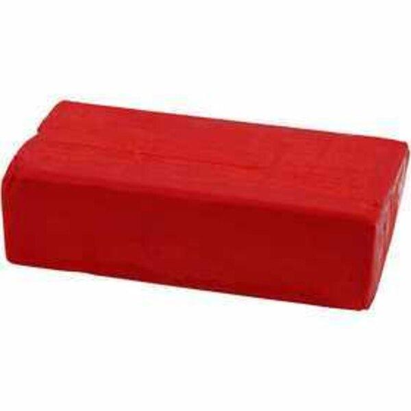 Pasta modellabile, misura 13x6x4 cm, rosso, 500g