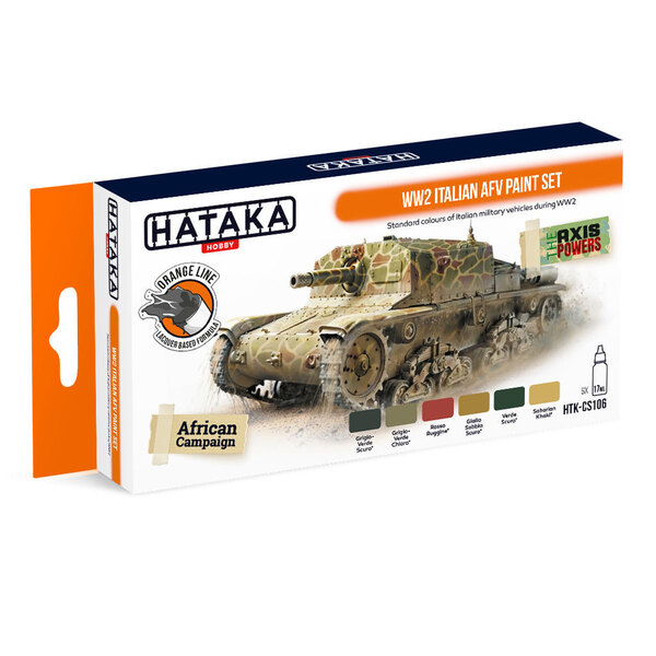 Orange Line Set (6 pezzi) Set di colori AFV italiano WW2 HATAKA 5902311060