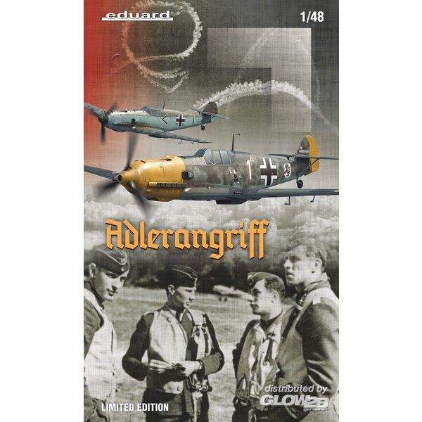 ADLERANGRIFF Messerschmitt Bf 109E,(Dual Combo) Edizione limitata in 1:48