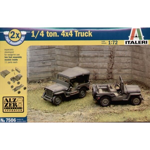 Willy Jeep Pack includes 2 snap together vehicles