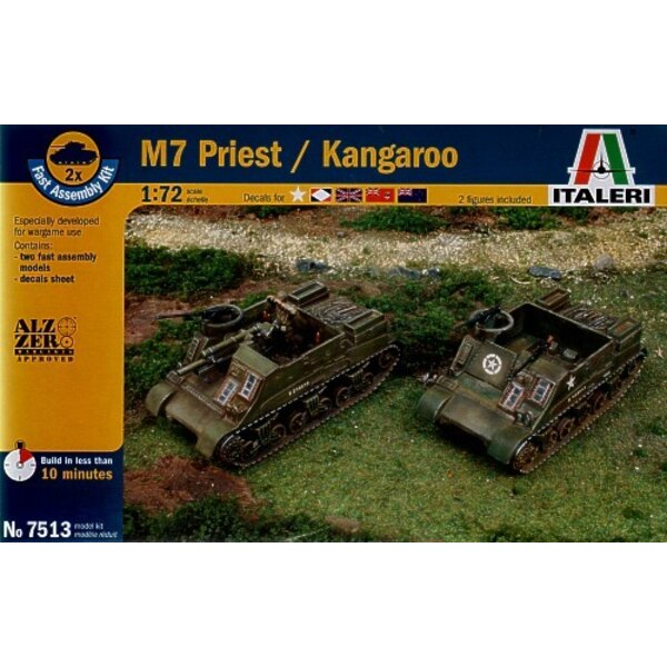 M7 Priest 105mm HMC includes 2 snap together vehicles