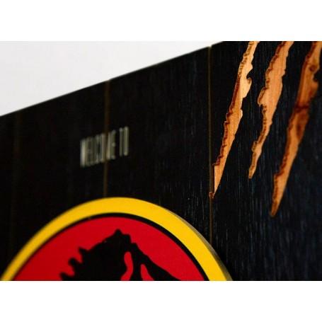 Doctor Collector Tavola Di Legno Con Logo 3d Jurassic Park Woodarts
