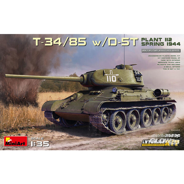 T-34/85 con D-5T. IMPIANTO 112. PRIMAVERA 1944. KIT INTERNI Mini Art 6465290
