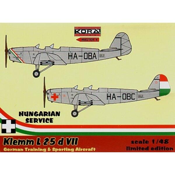 Klemm Kl 25 d VII. Decals Hungary