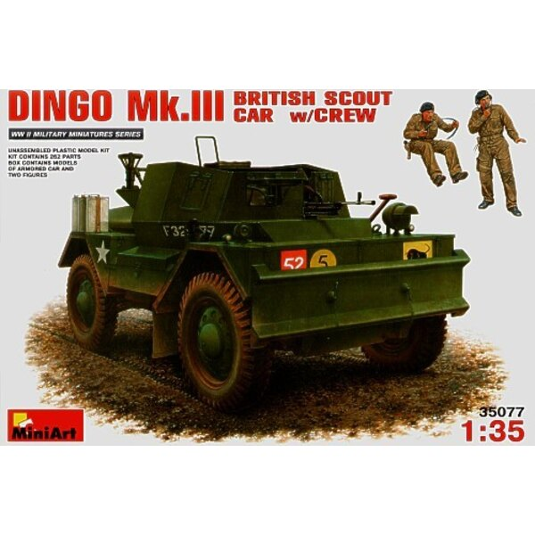 Dingo Mk.III British Scout Car with crew