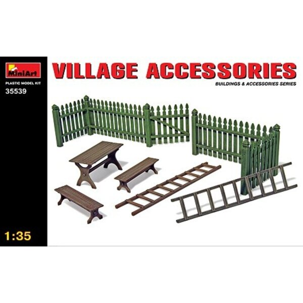 Village Accessories. Gate benches and ladders