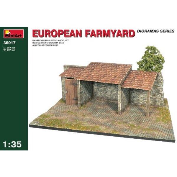 European Farmyard Diorama