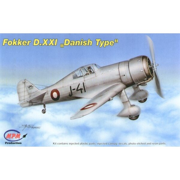 Fokker D.XXI Danish version. In 1937 Denmark purchased two Fokker D.XXI fighter aircraft and the production license for it. Ten