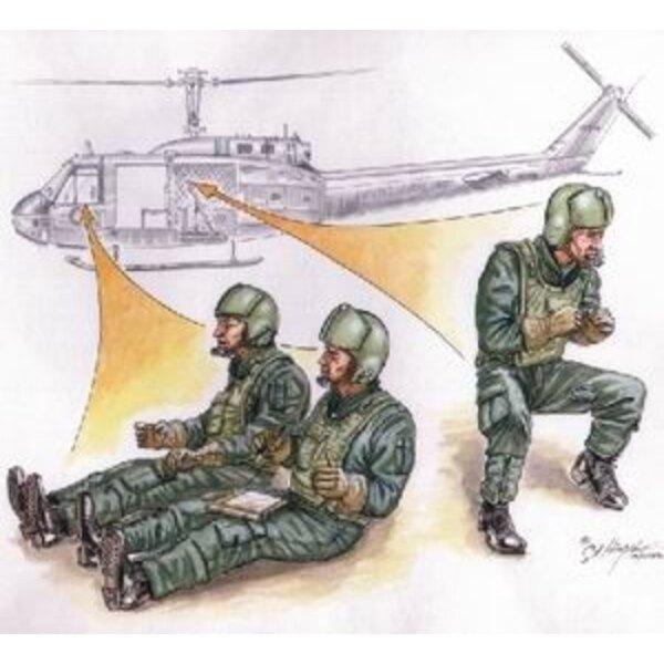 3 x US Helicopter crew Vietnam